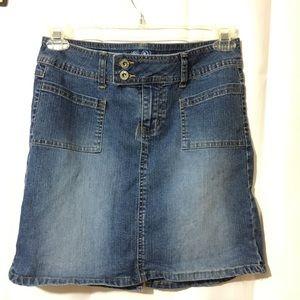 Angels Midi Jean Skirt Size 11